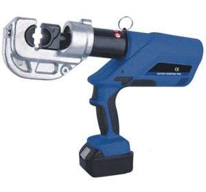 battery powered hydraulic crimping tool