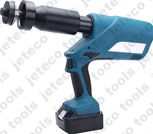 Battery hydraulic hole punch tool