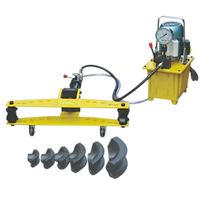 electric pump operated hydraulic pipe bender