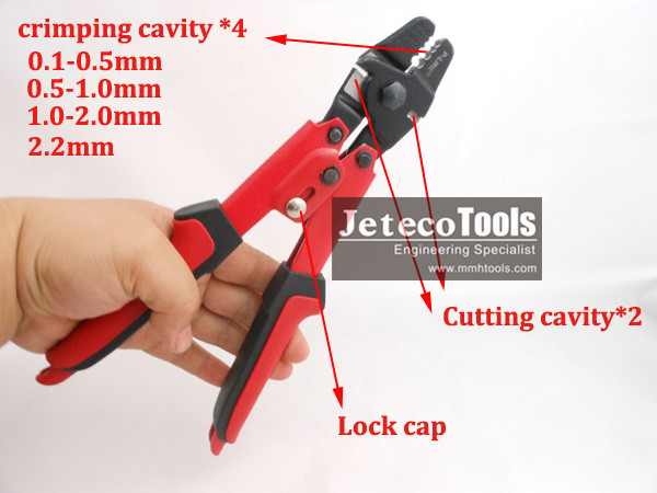 Stainless Wire Rope With Aluminum Sleeve Crimping Tool